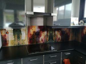 Crédence de cuisine - Impression sur verre trempé